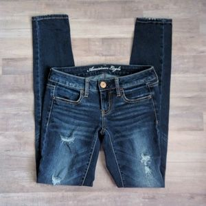 AEO dark wash jegging